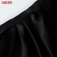 Tangada Women Black Party Dress Beading Sleeveless Backless 2021 Fashion Lady Dresses Robe 3H129 4