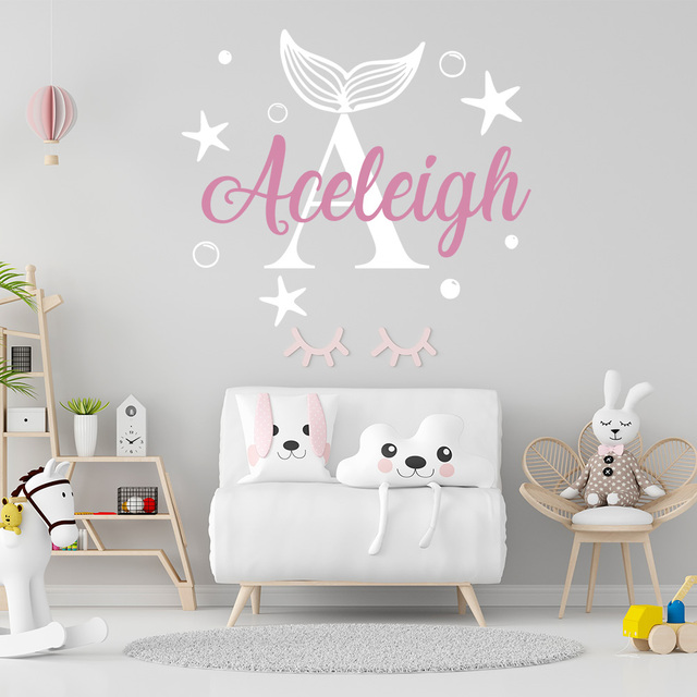 Personalized Custom Name Butterfly Wall Sticker Wallpaper For Nursery Kids Room Decoration Vinyl Stickers Bedroom Decals 4