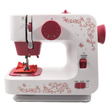 Wholesale High Quality Automatic Household Sewing Machine Pink Overlock Sewing Machines Battery Operated 12 Stitches DIY(China)