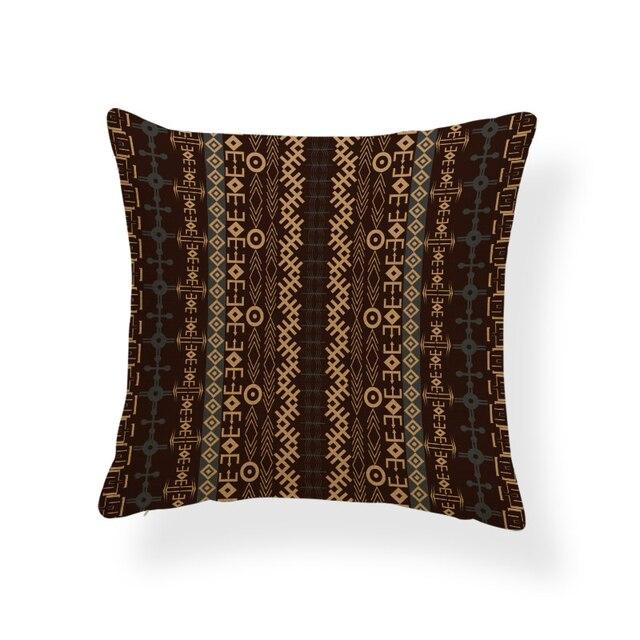 Géométrie intéressante taie doreiller noir Camel girafe oreiller salon canapé Polyester lin 45x45cm décoration housse de coussin