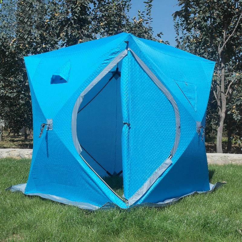 3-4 человека использовать зимнюю рыбалку использовать ледяную рыбу кемпинг палатка плюс хлопок открытый зимний рыбацкий дом