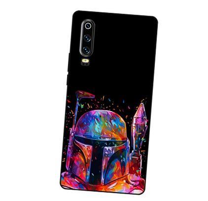 P162 peinture Star Wars couvercle de boitier en silicone noir pour Huawei P8 P9 P10 P20 P30 Lite Pro P Smart Plus 2017 2019
