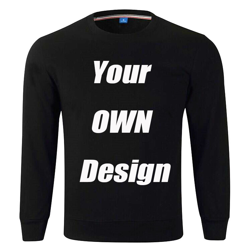 BTFCL Customize Men Women Customized Sweatshirt Print Like Photo Or Logo Text DIY Your OWN Design Black Cotton Harajuku Hoodies