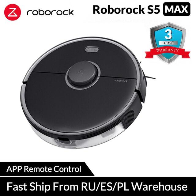 Roborock S5 Xiaomi Robot Vacuum Cleaner for Home Smart Sweeping Robotic Cleaning Mope Upgrade of Roborock S50 S55 Mi Robot