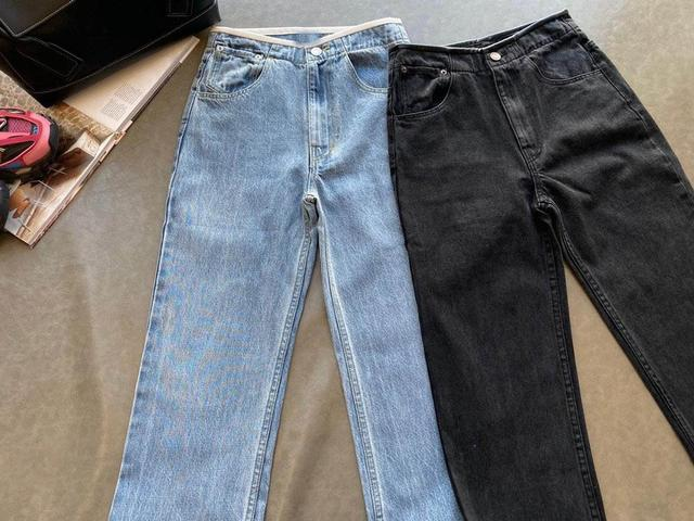 Casual Wash Jeans Bottom Wear Women color: Black|Blue