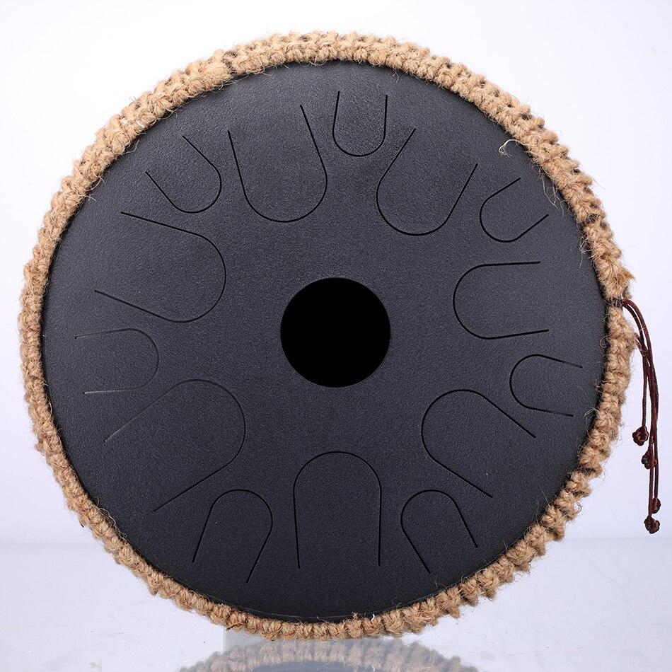 Новый стальной барабан для языка, 13 дюймов, 15 тонов, ручной барабан, перкуссионный инструмент, подарок для начинающих и любителей музыки для йоги, медитации 5