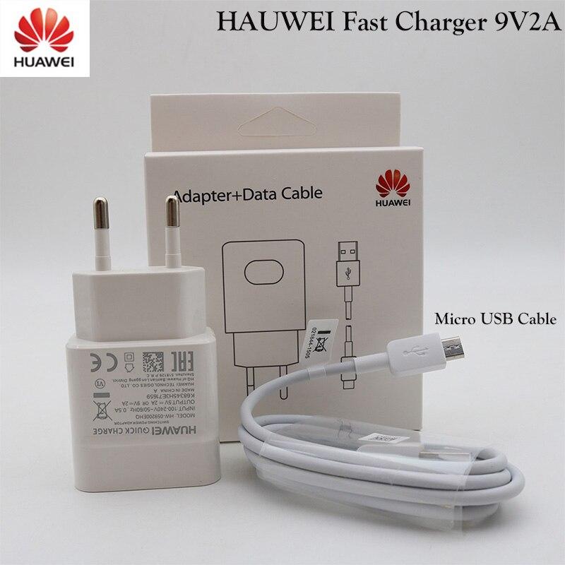 Huawei 9v2a ue eua carregador qc 2.0 rápido adaptador de carga rápida micro táxi usb para companheiro 7 8s 10 lite nova 3i p8 9 10 lite