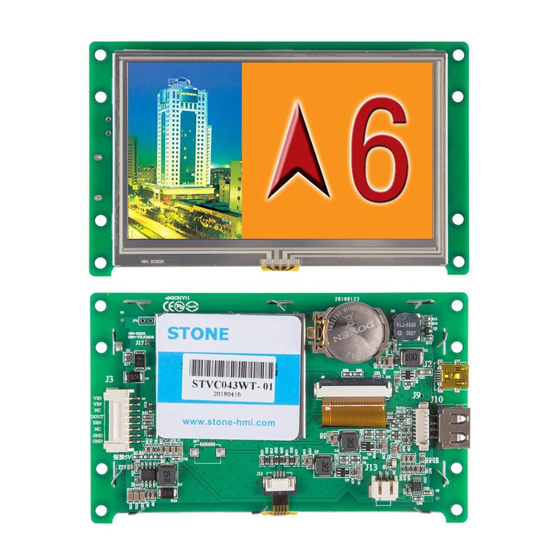 4,3 дюймовый HMI TFT ЖК дисплей сенсорный экран модуль ПОДДЕРЖКА Arduino/PIC/ARM/любой микроконтроллер
