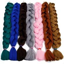 Synthetic Hair 82 Inches 165g Crochet Black Brown Pink Purple Long Jumbo Braid Xpression Braiding Kanekalon