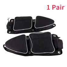 1pair Travel UTV Auto Driver Organizer Storage Knee Pad Car Side Door Bag Passenger Front Multi Pocket For Polaris RZR 900(China)