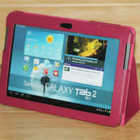 Funda de cuero para tableta Samsung Galaxy Tab 2 de 10,1 pulgadas, GT-P5100 para Tablet P5110, P5113, P7500, P7510, GT-P5110 tipo libro, P5100