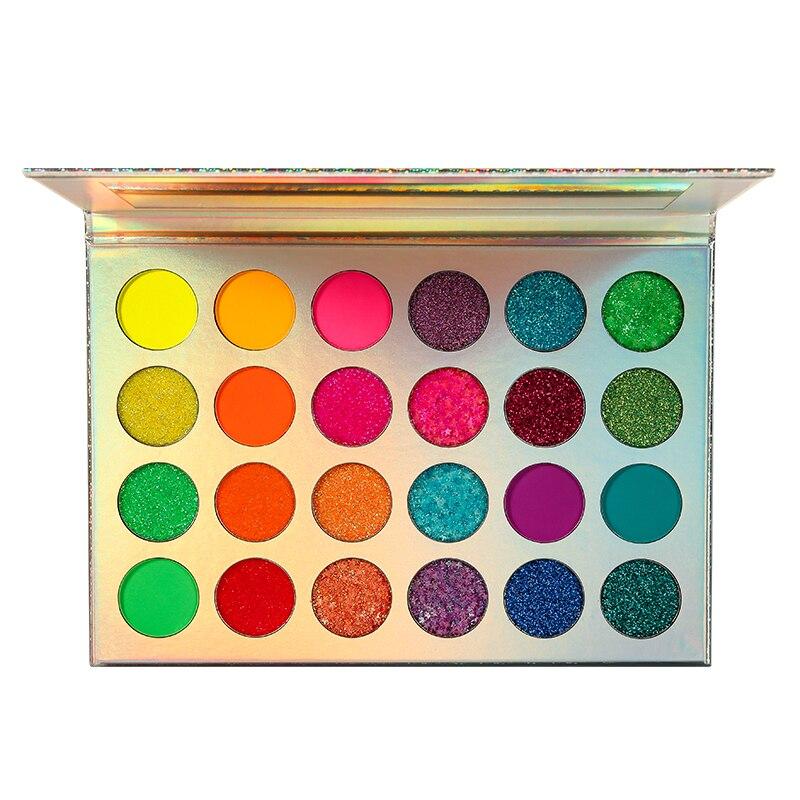 DE'LANCI Aurora Glow Eyeshadow Stage Clubbing Neon Makeup Kit In Blacklight UV Glow In The Dark Fluorescent Eye Shadows