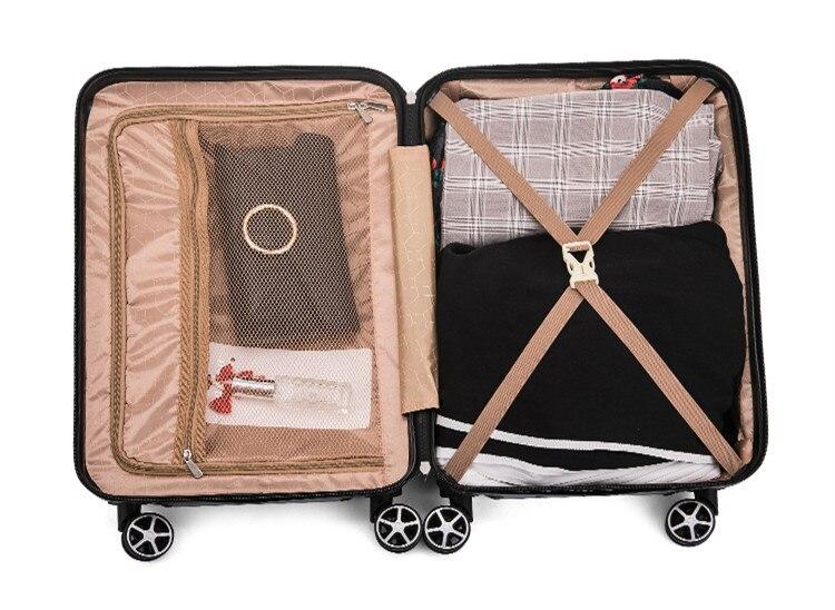 20 24 polegadas feminino rolando bagagem mala de viagem caso com saco de portátil