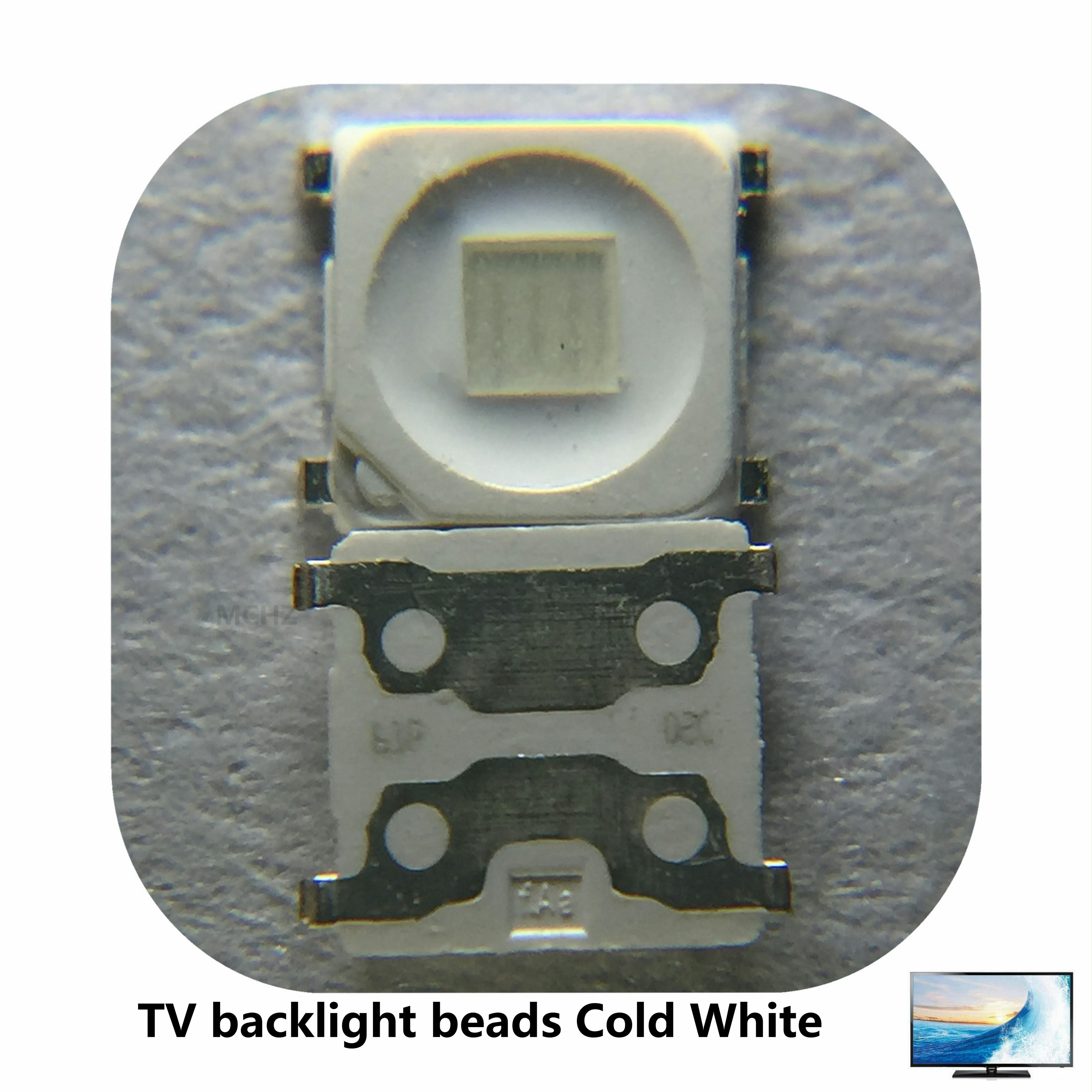 200 PCS/Lot SMD LED 3228 3V 455NM bleu 2828 1.5W haute puissance pour SAMSUNG TV rétro-éclairage