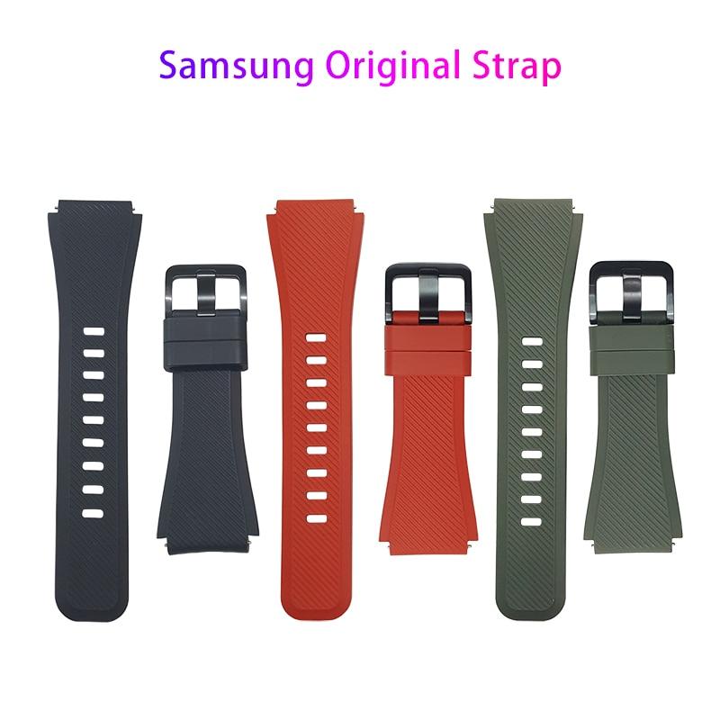 Оригинальный ремешок для Samsung Gear S3, классический силиконовый ремешок для активного отдыха, Forntier Galaxy Watch, 46 мм, спортивный ремешок на запястье, 22 мм Смарт-аксессуары    АлиЭкспресс