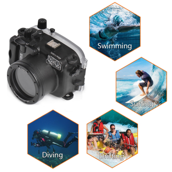 Seafrogs 40m/130ft Underwater Case Diving Waterproof Housing for Canon G7X-III G7X mark III G7XIII G7X III Camera seafrogs tg6 60m 195ft underwater diving waterproof housing camera case for olympus tg 6 waterproof camera bags w wet dome port