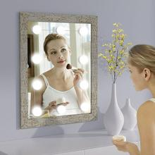 Juego de 10 bombillas LED de espejo de tocador de Hollywood para tocador lámpara de pared lámpara de tocador lámpara de espejo