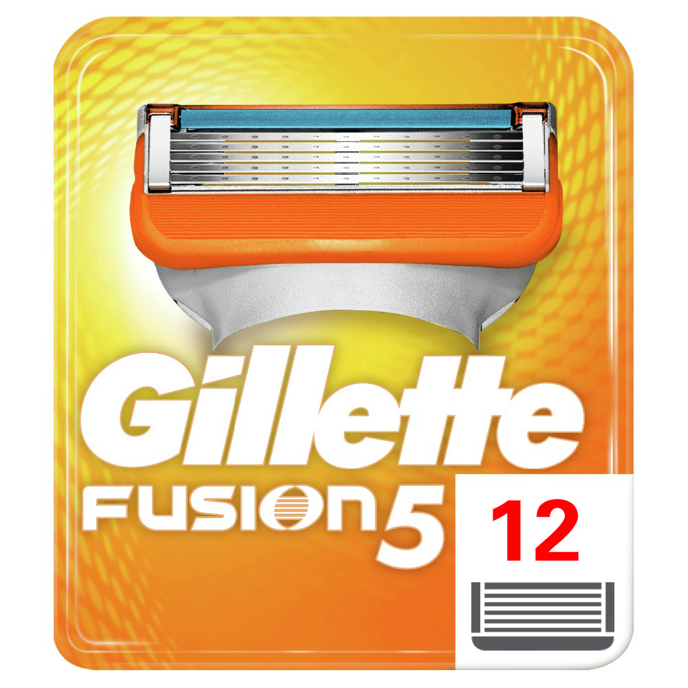 Removable Razor Blades For Men Gillette Fusion Blade For Shaving 12 Replaceable Cassettes Shaver Fusion Shaving Cartridge Fusion