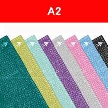 Placa de corte a2 60*45cm, placa de corte multicolorida para cura automática e dupla cor-almofada de corte lateral do desktop
