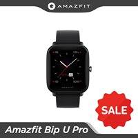 Amazfit-reloj inteligente Bip U Pro, dispositivo con GPS, pantalla a Color de 1,43 pulgadas y 50 caras, 5 ATM, 60 + modos deportivos para Android e IOS, disponible
