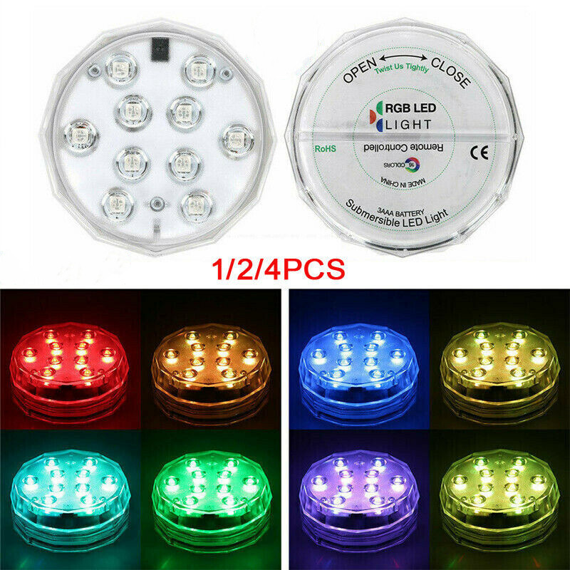 Remote Control Color Colored LED Light Boundery Style Waterproof EFX Accent Underwater Night Lamp Outdoor Party Decoration 2019
