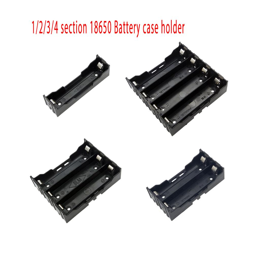 DIY 1/2/3/4 Section 18650 Plastic Battery Case Holder Storage Box For 18650 Rechargeable Battery 3.7V