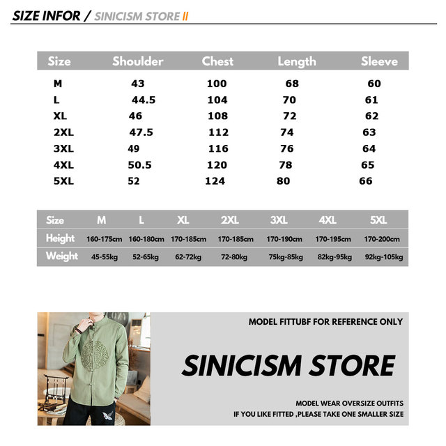 Sinicism Store Autumn Men Chinese Style Vintage Shirts 2020 Mens Casual Cotton Linen Shirts Male Embroidery New Clothes Oversize