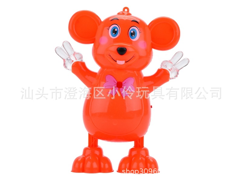 Stall Hot Selling Dancing Small Adorable Rat CHILDREN'S Electric Toys Dancing Sway Mouse Light Music Toy