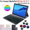 For Huawei Mediapad M5 Lite 10 Keyboard Case 10.1 inch Tablet BAH2-W09 BAH2-L09 BAH2-W19 Bluetooth Keyboard Slim Leather Cover