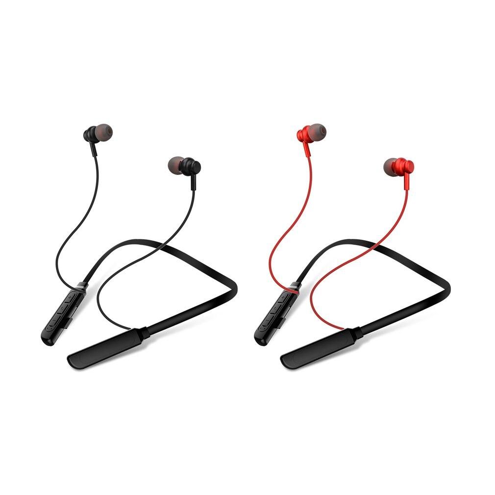 X17 Metal in-ear hanging neck Earphone Sports Wireless Headphone Neckband Magnetic Headset Handfree Earbuds with Mic