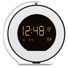 Новинка-Беспроводной, музыка, светодиодный, часы с будильником, мини Bluetooth звуковая коробка Fm радио время Дисплей настольные часы Портативный часы