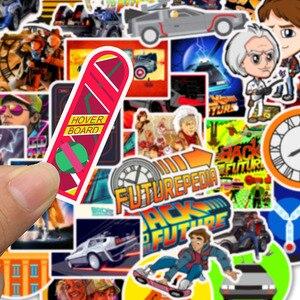 Image 4 - 50Pcs סרט בחזרה לעתיד מדבקות חבילה עבור על מחשב נייד מקרר טלפון סקייטבורד נסיעות מזוודה מדבקה