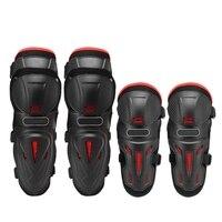 4pc motocicleta joelho & cotovelo almofadas de proteção motocross patinação no joelho protetores equitação protetor engrenagens almofadas proteção