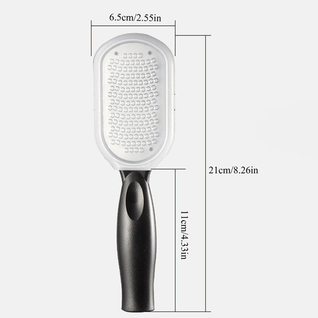 1Pcs Health Foot Care Hard Dead Skin Callus Remover Foot File Foot Pedicure Double Side Sanding File Reusable Stainless Steel