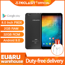 Teclast P80X 4G планшет Android 9,0 нетбук фаблет Планшеты 8 дюймов 1280x800 SC9863A Восьмиядерный 2 Гб RAM 32 ГБ ROM GPS Двойная камера