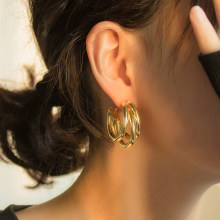 New Statement Retro Stainless Steel Earrings Fashion Bohemian Dangle Earrings For Women Punk Hip Hop Jewelry Women Hot Wholesale