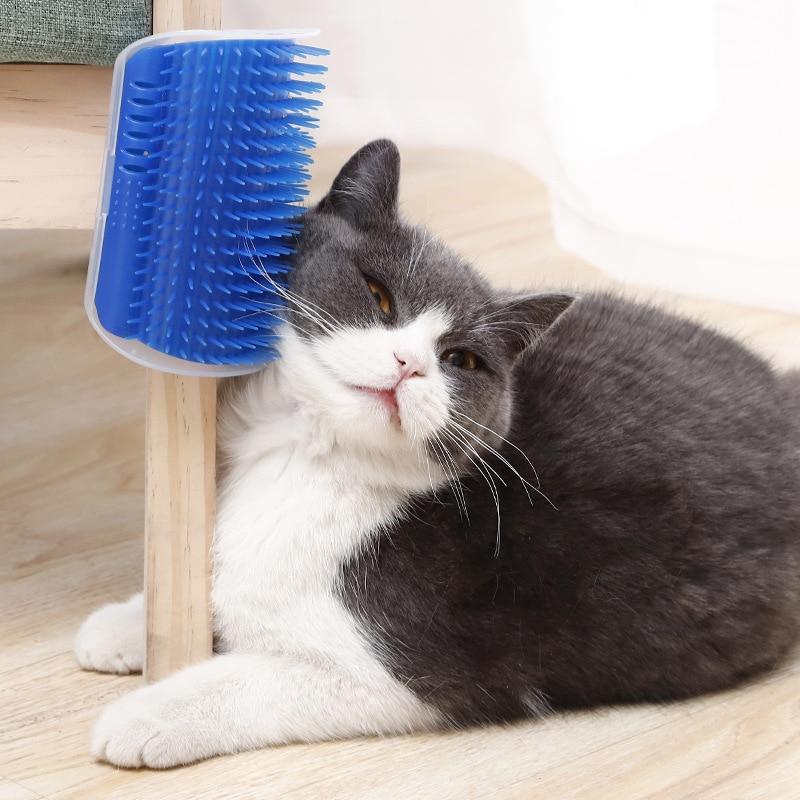1 шт угловая щетка для кошек длинных волос массажная Расческа