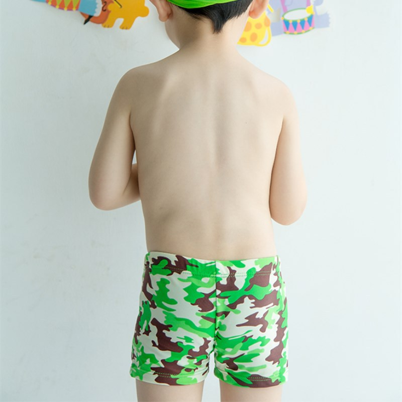 BOY'S Swimming Trunks Green Base Small Camouflage Cute Boy Students Infants Baby Big Boy Hot Springs AussieBum