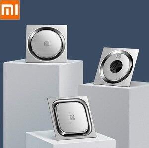 Image 1 - Xiaomi Square Round Washing Machine Deodorant Floor Drain Bathroom kitchen 304 Stainless Steel Large Flow Drainer