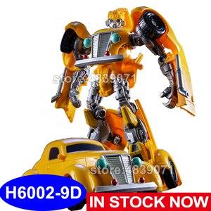 Image 1 - AOYI פעולה איור צעצועי H6002 9D G1 מלחמת העולם השני דבורה רכב צרעה לוחם עיוות רובוט שינוי