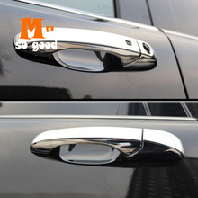 2014 For Jeep Grand Cherokee ABS Chrome Car Door Handle cover Decoration Trim Car exterior Accessories Styling Stickers abs plating body door side molding trim set for jeep grand cherokee 2011 2012 2013 2014 [qpa166]