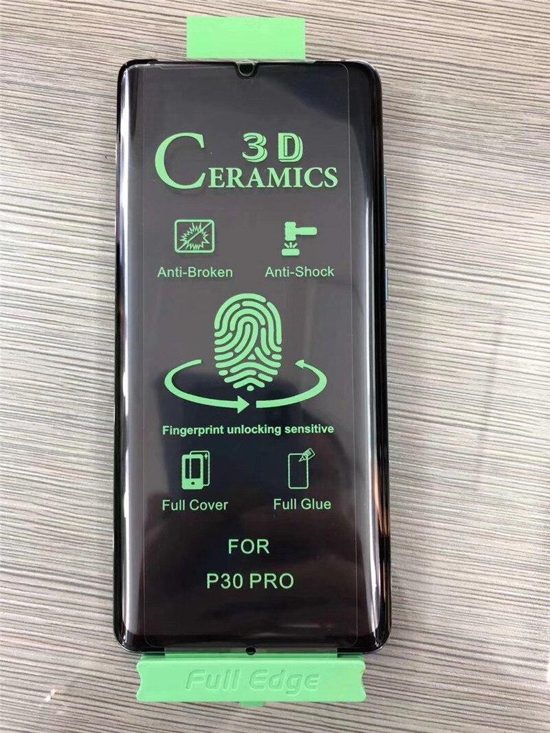 Полная проклейка, Мягкая изогнутая керамическая защита экрана huawei p40 pro p30pro Mate 30 pro Mate 20pro Honor 30 pro, пленка, не закаленное стекло