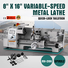 Lathe All-Metal And Mini 8--X-16-Gears-Shell Hand-Wheel Precision Variable-Speed 750W