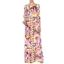 Женское платье с рукавом 3/4 gedivoen длинное свободного размера