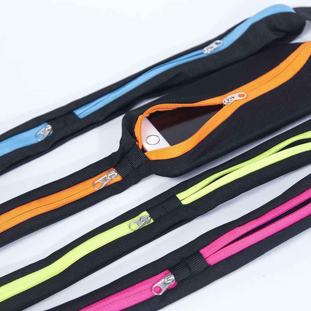 Saco de esportes correndo cintura saco de bolso ao ar livre jogging ciclismo correndo saco impermeável ajustável anti-roubo pacote esporte cinto saco