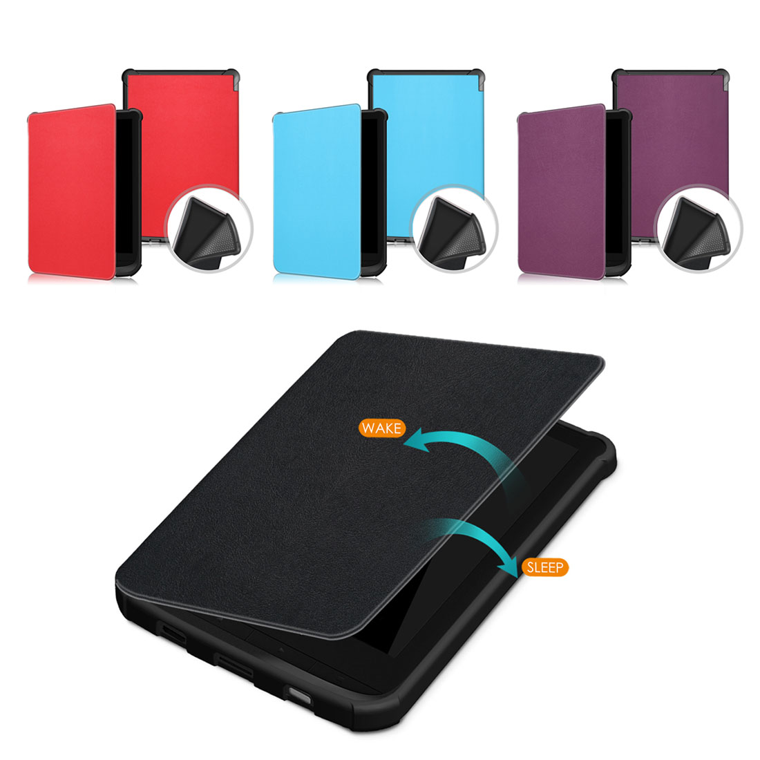 PU Leather Flip Stand Case Cover Stand For <font><b>Pocketbook</b></font> 632/627/<font><b>616</b></font> Lux 4/Basic Lux 2 image