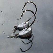 5 Chiếc Jig Móc 3.5G 5G 7G 10G 15G 21G Dẫn Đầu Lưỡi Câu câu Nước Mặn Jigging Mềm Giun Móc Cau Nhân Tạo Pesca