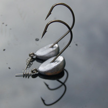 5 Pcs jig Ganci 3.5g 5g 7g 10g 15g 21g di Piombo Testa del gancio di Pesca di Acqua Salata affrontare jigging Molle A Vite Senza Fine Ganci Isca Pesca Artificiale