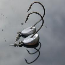 5 Pcs jig Hooks 3.5g 5g 7g 10g 15g 21g Lead Head Fishing hook Tackle Saltwater jigging Soft Worm Hooks Isca Artificial Pesca