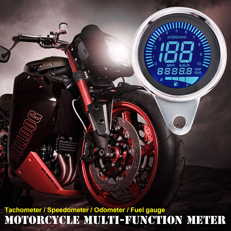 Wupp medidor digital para motocicleta, tela lcd,